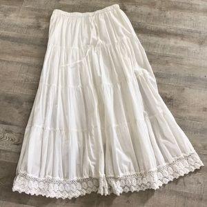 Lace Hem Maxi Skirt
